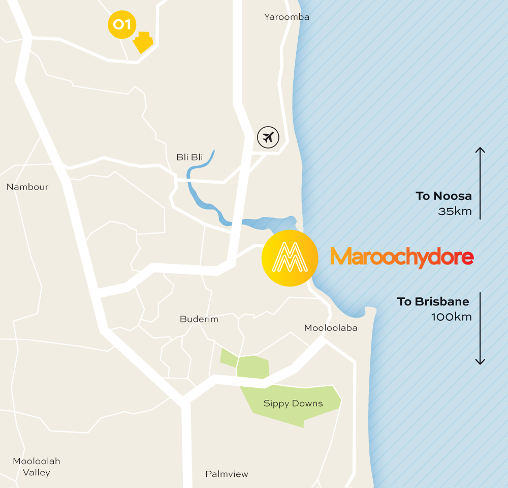 Location Maroochydore City - Solar location map