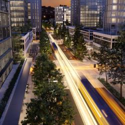 CGI overview of Maroochydore city street
